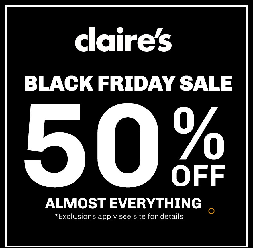 Claires Black Friday page 1